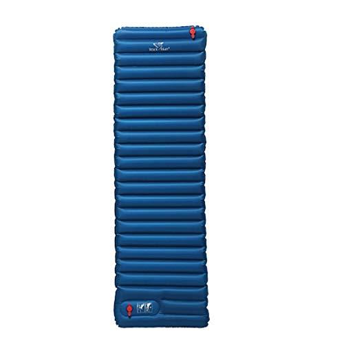 PRIDE S Luftmatratze im Freien Einzel TPU Leichte Inflatable Feuchtigkeitsfeste Auflage Snow Mountain Warm Feuchtigkeitsfeste Auflage (Color : Blue)