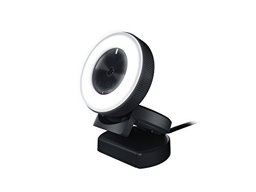 Razer Kiyo Streaming Webcam: 1080p 30 FPS / 720p 60 FPS - Ring Light w/ Adjustable Brightness - Built-in Microphone - Advanced Autofocus