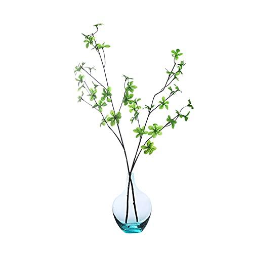HI-vases Un Jarrón De Flores, Pequeño Calibre De Cristal Jarrón Azul Gotitas De Agua Degradado Flores Frescas Plantas Verde Florero De Acuicultura 20 * 2.5 Cm(Size:90 * 2.5CM)