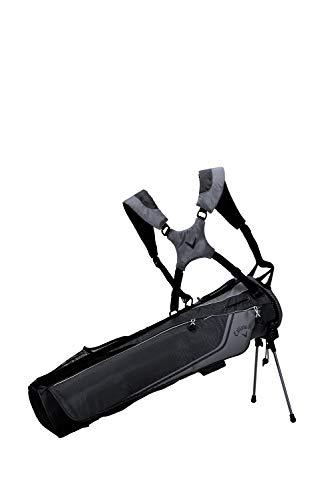 Callaway Golf 2020 Carry+ Federmäppchen mit Ständer, Unisex, Callaway Double + Schlampertasche schwarz/anthrazit, 5120059, Schwarz/Charcoal, Einheitsgröße