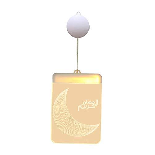 Nobranded Lámparas de Adorno de acrílico Eid Ramadan musulmán islámico 26x LED luz de Noche decoración del hogar Sala de Estar - Estilo 2