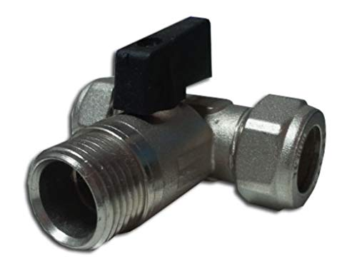 Universal - Mini valvula de esfera a tubo 15mm-15mm 1/2 m