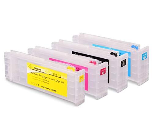 100% Nuevo Nuevo Cartucho de Tinta Recargable vacío de 700 ML con Chip para Impresora Epson SureColor S30670 S50670 S30675 S50675