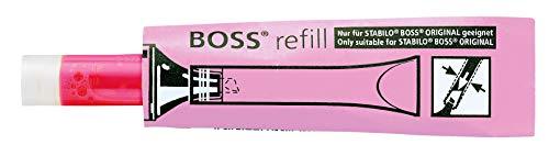 STABILO BOSS ORIGINAL – Recarga para marcador fluorescente (lote de 20 unidades), color rosa