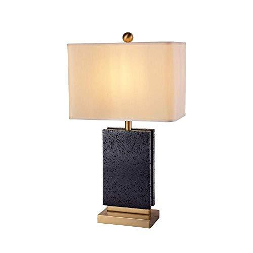 N/Z Equipo de Vida Simple y Elegante Mármol Negro Diseño Creativo Poste de lámpara Decorativo Estudio de Lujo Moderno Sala de Estar Dormitorio Lámpara de Mesa 39 * 68 cm