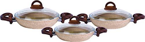 Karaca Forest Bio Granit-Pfanne Eierpfannen-Set mit zwei Henkeln, Antihaftbeschichtung, Spulmaschinengeeignet, Granit