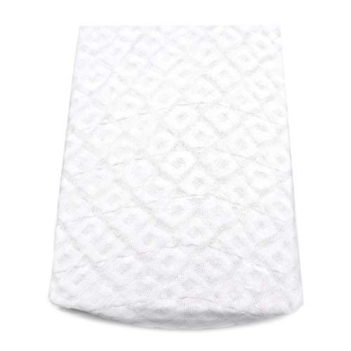 Takestop® Dubbelt Jacquard madrasskydd med skumhörn elastiskt madrassöverdrag 180 x 200 + 25 cm 100 % bomull