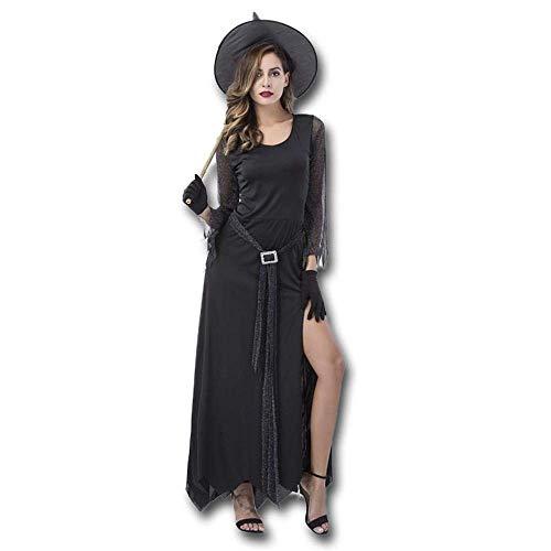 Fashion-Cos1 Frauen Sexy Einzigartige Hexe Kostüm Kleid Cosplay Party Kostüm Für Erwachsene Weibliche Halloween Kostüme (Color : M)