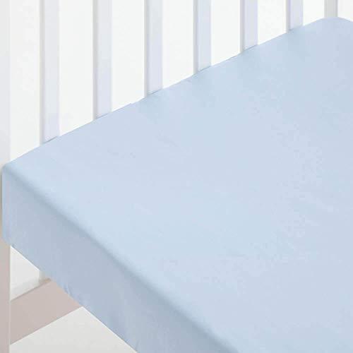 Pekebaby Sábana Bajera de algodón 100% Supercuna (80 x 130 cm) Azul