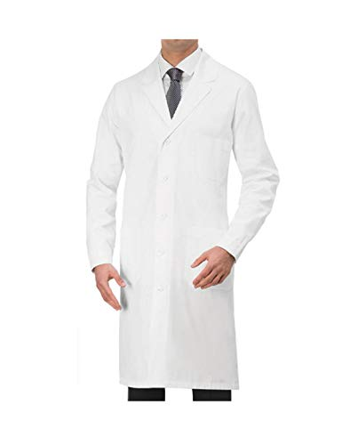 tessile astorino Bata sanitaria de trabajo blanca – uniforme de manga larga para hombre – Bata de laboratorio para médico, estructura sanitaria, enfermeras, veterinario Color blanco. XXL