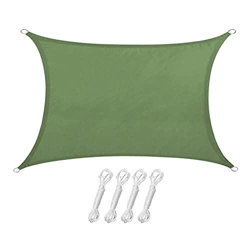 Vecksoy Toldo parasol para jardín o balcón, incluye cuerdas de fijación, protección contra la intemperie, impermeable, toldo de poliéster PES y protección UV para jardín y exteriores