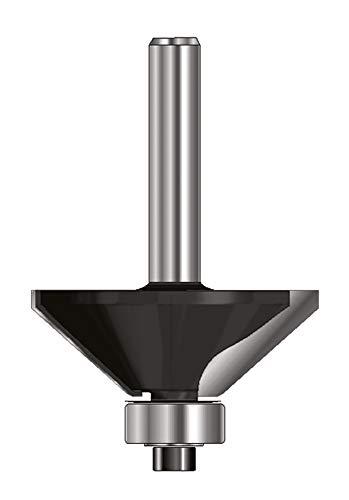 ENT 13821 Fasefräser HW (HM), Schaft (C) 8 mm, Durchmesser (A) 28,6 mm, B 9 mm, E 45°, D 32 mm, mit Kugellager