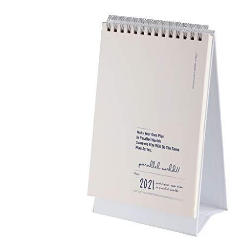 Kalendarien Tischkalender Wandkalender Schreibtischkalender 2021 wöchentlicher Planungskalender mit Mondkalender Uhr-in, um sich auf das Vergessen der Schreibtischdekorationen vorzubereiten Kalender,