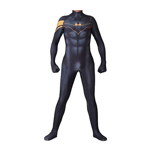 NVHAIM Medias de Batman de DC Comics Impresas en 3D, Disfraces de Disfraces de Halloween, Mono de superhroe para Adultos y nios Children Negro, Men S