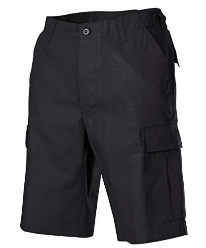 MFH US BDU Bermuda Ripstop Herrenhose Shorts Kurze Hose Cargo Sommerhose Verschiedene Ausführungen (XXL, Schwarz)