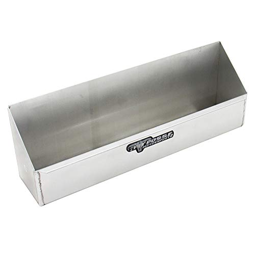 Pit Posse 566 - Garage/Trailer Storage Organizer - Aerosol Shelf - Aluminum Rack Holder Shelve - for Shop or Enclosed Trailer - Universal Installation (Silver) - Automotive Accessories