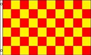 Best Flags Red and Yellow Checkered Poly Outdoor Flag, 3 by 5-Feet
