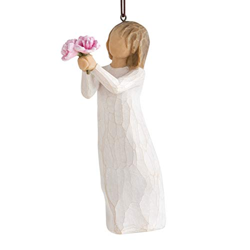 Willow Tree Thank You Hanging Ornament, cast Stone, Multi, 5 x 6.5 x 13.5 cm