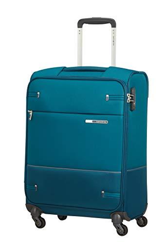 Samsonite Base Boost Spinner S Valigia Espandibile, 55 cm, 39 L, Blu (Petrol Blue)