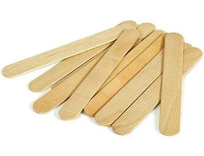 RELMOS Waxing Spatulas Tongue Depressors Large Wax Tatoo Hair Removal Birch Wood - Thick (Quantity: 100)