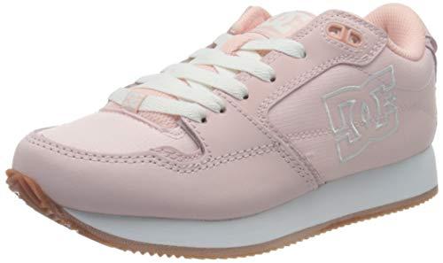 DC Shoes Alias, Zapatillas para Mujer, Pink/White, 36.5 EU