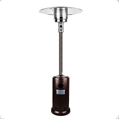Boderrio Outdoor Propane Patio Heater - Outdoor Liquid Patio Heater for Garden, Courtyard, Cafe, Living Room, 48000 BTU CSA Certified, Bronze