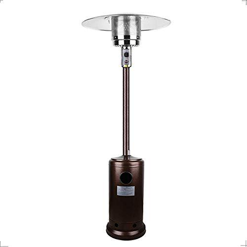 Boderrio Outdoor Propane Patio Heater - Outdoor Liquid Patio Heater for Garden, Courtyard, Cafe, Living Room, 48000 BTU CSA Certified, Bronze