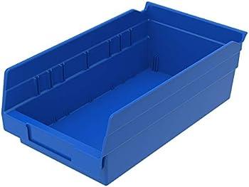 12-Pack Akro-Mils 12 x 6-1/2 x 4 Inch Plastic Nesting Shelf Bin Box