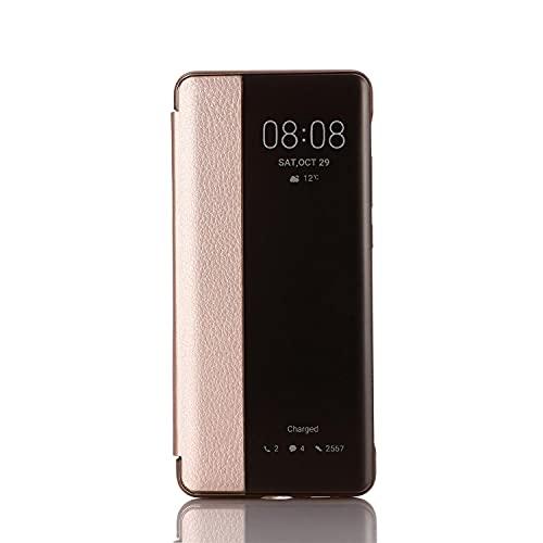 Suhctup Funda Flip Folio Inteligente de Piel Compatible con Huawei P10 Plus,Despertar/Dormir Automático Inteligente Media Ventana Anti-colisión Anti-caída Protectora Cuero PU Caso