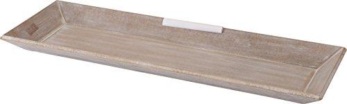Spetebo Holz Deko Tablett im Shabby Chic Design - 60 x 21 cm - Vintage Serviertablett Kerzentablett