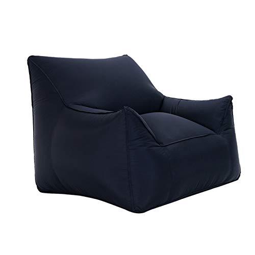 Wsaman Sin relleno suave inflable sofá de ocio, sofá plegable transformable tela perezoso con material de nailon alto para uso en interiores y exteriores, S