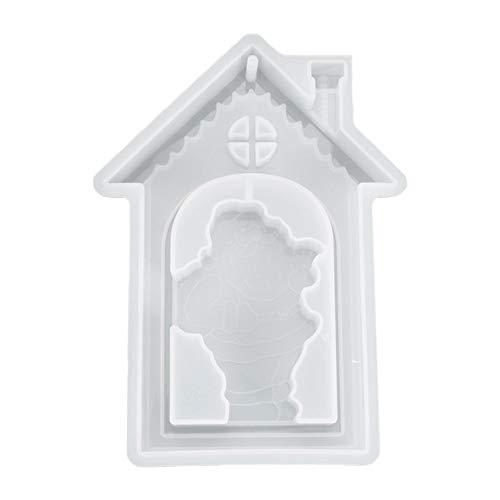 FELENX Molde de Papá Noel epoxi de cristal, molde de fundición de manualidades de resina creativa, utilizado para colgantes de árbol de Navidad, utilizado para regalos de decoración de Navidad