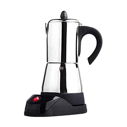 QIA Huishoudelijke koffiezetapparaat, roestvrij staal, Moka koffiezetapparaat, theekan, elektro moka koffiezetapparaat, mokka stovetop gereedschap