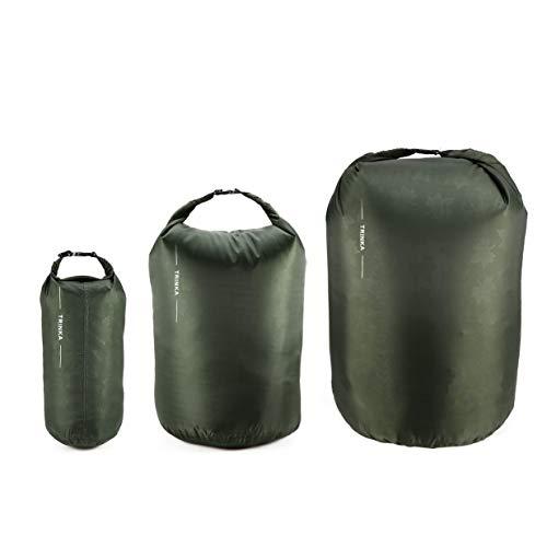 Kurphy Portátil 8L 40L 70L impermeable bolsa seca bolsa de almacenamiento bolsa para acampar senderismo senderismo uso en bote - verde ejército 8L+40L+70L8L+40L+70L