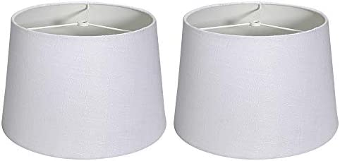 Tootoo Star Double 10x12x8 Fabric Natural Linen Cone Drum Hand Craft Medium Lamp Shade Set of product image