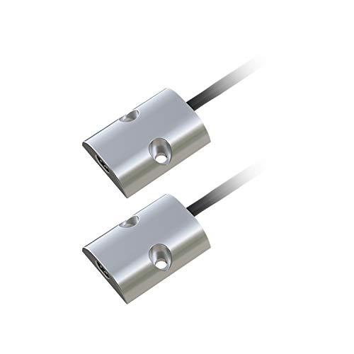 Doppio Sensore Interruttore LED ad Apertura anta armadio a 2 ante cassetto 12V 24V door sensor switch professionale