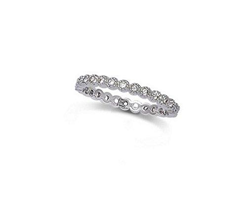 Les Plaisirs de Stella - Anello alleanza da donna, molto sottile,in argento 925/000rodiato e ossido di zirconio, larghezza 2mm, argento 925/000, 14, cod. B11HN070CZ_54