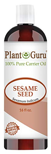 Sesame Seed Oil 16 oz Cold Pressed 100% Pure Natural Carrier - Skin,...