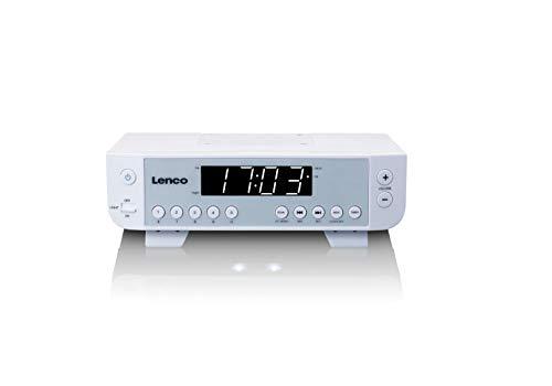Lenco KCR de 11Lenco Radio de Cocina con 5Memoria Puestos, 2pies, Cable de Red Color Blanco