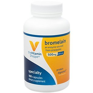 The Vitamin Shoppe Bromelain 500MG 600 GDU, Supports Protein Digestion Absorption, Enzyme Sourced from Pineapples (100 Capsules)