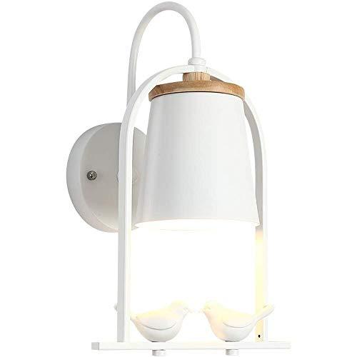 GBX Lichter für Wand, Wandleuchte Strenge Fabrikprozesse stellen sicher, dass kreative kleine Vogel-Wandlampe einfache moderne Log Gang Licht Schlafzimmer Nacht Metall Holz Harz 37 × 25 cm Wandlichte