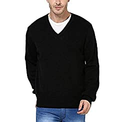 Zacharias Mens V Neck Full Sleeve Sweater