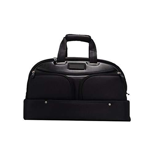 Golf Duffle Bag Golf Clothing Bag Large Capacity Water Lightweight Fitness Swimming Yoga Bag Resistant Gym Travel Sports Bag For Women Men Black Golf Clothing Bag ( Color : Black , Size : 48*28*35cm )