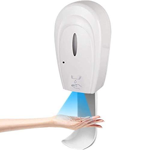WOCAO Dispensador de Jabón Espuma Eléctrico, Dispensador de líquidos sin Contacto Sensor Infrarrojos Impermeable, Alimentado con Pilas, con Bandeja de Goteo, para Baño, Cocina, Hotel Spray