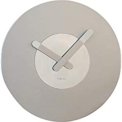NEXTIME Unek Goods in Touch Wall Clock, Silver, Battery Operated