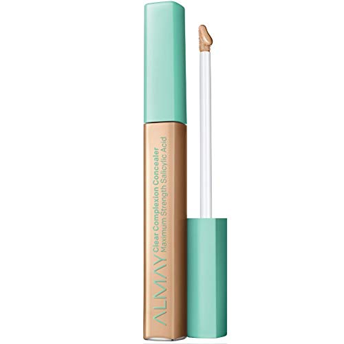 Almay Clear Complexion Concealer, Matte Finish with Salicylic Acid and Aloe, Oil Free, Hypoallergenic, Cruelty Free, Fragrance Free, Dermatologist Tested, 300 Medium, 0.18 oz