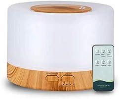 Difusor De Aromas, Umidificador De Ar Ultra-Sônico 500Ml, Difusor De Óleo Essencial, Abajur Led, Lâmpada Colorida Com...