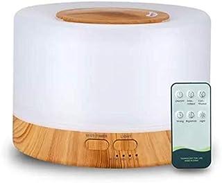 Difusor De Aromas, Umidificador De Ar Ultra-Sônico 500Ml, Difusor De Óleo Essencial, Abajur Led, Lâmpada Colorida Com Cont...