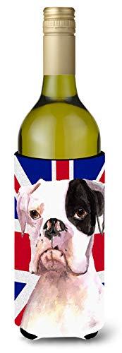 Boxer Cooper con Inglés Union Jack bandera de Reino Unido para botella de vino bebida Insulator Hugger rdr3030literk
