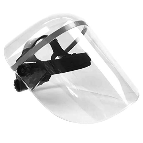 Artibetter 1Pcs Écran Facial de Sécurité Capuchon de Protection Tous Azimuts avec Visière Large Claire Anti-Buée Crachant Bouclier Transparent Léger pour Hommes Femmes